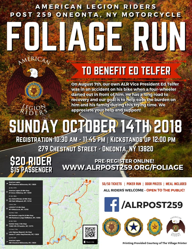 Foliage Benefit Ride for Ed Telfer2